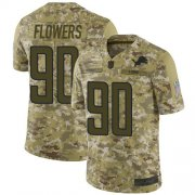 Wholesale Cheap Nike Lions #90 Trey Flowers Camo Men's Stitched NFL Limited 2018 Salute To Service Jersey