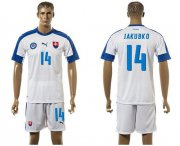 Wholesale Cheap Slovakia #14 Jakubko Home Soccer Country Jersey