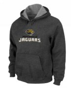Wholesale Cheap Jacksonville Jaguars Authentic Logo Pullover Hoodie Dark Grey