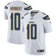 Wholesale Cheap Nike Chargers #10 Justin Herbert White Men's Stitched NFL Vapor Untouchable Limited Jersey