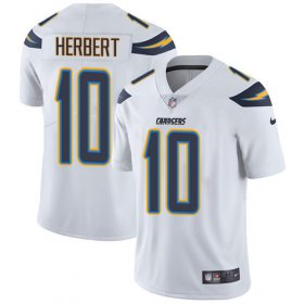 Wholesale Cheap Nike Chargers #10 Justin Herbert White Men\'s Stitched NFL Vapor Untouchable Limited Jersey