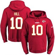 Wholesale Cheap Nike Chiefs #10 Tyreek Hill Red Name & Number Pullover NFL Hoodie