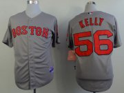 Wholesale Cheap Red Sox #56 Joe Kelly Grey Cool Base Stitched MLB Jersey