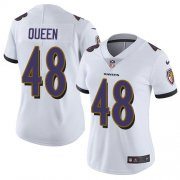 Wholesale Cheap Nike Ravens #48 Patrick Queen White Women's Stitched NFL Vapor Untouchable Limited Jersey