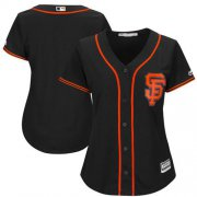 Wholesale Cheap Giants Blank Black Alternate Women's Stitched MLB Jersey
