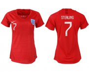 Wholesale Cheap Women's England #7 Sterling Away Soccer Country Jersey