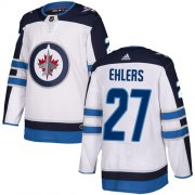 Wholesale Cheap Adidas Jets #27 Nikolaj Ehlers White Road Authentic Stitched NHL Jersey