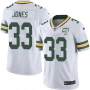 Wholesale Cheap Nike Packers #33 Aaron Jones White Men's 100th Season Stitched NFL Vapor Untouchable Limited Jersey