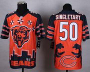 Wholesale Cheap Nike Bears #50 Mike Singletary Orange Men's Stitched NFL Elite Noble Fashion Jersey