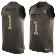Wholesale Cheap Nike Colts #1 Pat McAfee Green Men's Stitched NFL Limited Salute To Service Tank Top Jersey