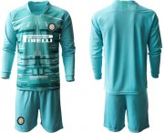 Wholesale Cheap Inter Milan Blank Light Blue Goalkeeper Long Sleeves Soccer Club Jersey