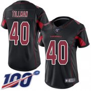 Wholesale Cheap Nike Cardinals #40 Pat Tillman Black Women's Stitched NFL Limited Rush 100th Season Jersey