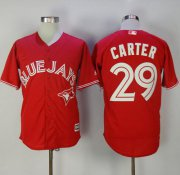 Wholesale Cheap Blue Jays #29 Joe Carter Red New Cool Base Canada Day Stitched MLB Jersey