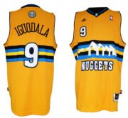 Wholesale Cheap Denver Nuggets #9 Andre Iguodala Revolution 30 Swingman Yellow Jersey