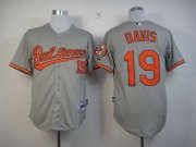Wholesale Orioles #19 Chris Davis Grey Cool Base Stitched Baseball Jersey