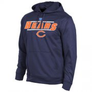 Wholesale Cheap Chicago Bears Majestic Synthetic Hoodie Sweatshirt Navy Blue