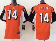 Wholesale Cheap Nike Bengals #14 Andy Dalton Orange Alternate Youth Stitched NFL Elite Jersey