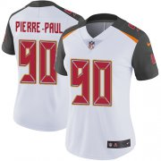 Wholesale Cheap Nike Buccaneers #90 Jason Pierre-Paul White Women's Stitched NFL Vapor Untouchable Limited Jersey