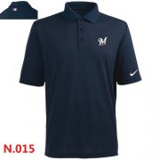 Wholesale Cheap Nike Milwaukee Brewers 2014 Players Performance Polo Dark Blue