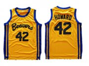 Wholesale Cheap Teen Wolf Beavers 42 Scott Howard Gold Stitched Movie Jersey