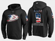 Wholesale Cheap Ducks #9 Paul Kariya NHL Banner Wave Usa Flag Black Hoodie