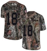 Wholesale Cheap Nike Jaguars #18 Chris Conley Camo Men's Stitched NFL Limited Rush Realtree Jersey