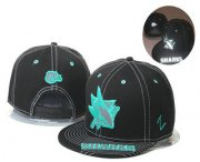 Wholesale Cheap San Jose Sharks Snapback Ajustable Cap Hat GS 1