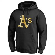 Wholesale Cheap Oakland Athletics Gold Collection Pullover Hoodie Black