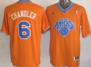 Wholesale Cheap New York Knicks #6 Tyson Chandler Revolution 30 Swingman 2013 Christmas Day Orange Jersey