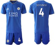 Wholesale Cheap Leicester City #4 Soyuncu Home Soccer Club Jersey