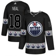 Wholesale Cheap Adidas Oilers #18 James Neal Black Authentic Team Logo Fashion Stitched NHL Jersey