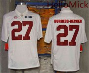 Wholesale Cheap Men's Alabama Crimson Tide #27 Shawn Burgess-Becker White 2016 BCS College Football Nike Limited Jersey