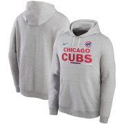 Wholesale Cheap Chicago Cubs Nike Color Bar Club Pullover Hoodie Gray