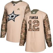 Cheap Adidas Stars #12 Radek Faksa Camo Authentic 2017 Veterans Day Youth Stitched NHL Jersey