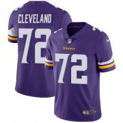 Wholesale Cheap Nike Vikings #72 Ezra Cleveland Purple Team Color Youth Stitched NFL Vapor Untouchable Limited Jersey