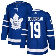 Wholesale Cheap Adidas Maple Leafs #19 Bruce Boudreau Blue Home Authentic Stitched NHL Jersey