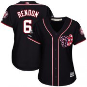Wholesale Cheap Nationals #6 Anthony Rendon Navy Blue Alternate 2019 World Series Champions Women's Stitched MLB Jersey