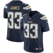 Wholesale Cheap Los Angeles Chargers #33 Derwin James Nike 100th Season Vapor Limited Jersey Navy