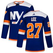 Wholesale Cheap Adidas Islanders #27 Anders Lee Blue Alternate Authentic Stitched NHL Jersey