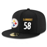Wholesale Cheap Pittsburgh Steelers #58 Jack Lambert Snapback Cap NFL Player Black with White Number Stitched Hat