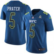 Wholesale Cheap Nike Lions #5 Matt Prater Navy Youth Stitched NFL Limited NFC 2017 Pro Bowl Jersey