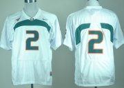 Wholesale Cheap Miami Hurricanes #2 With No Name White Jersey