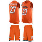 Wholesale Cheap Nike Broncos #27 Steve Atwater Orange Team Color Men's Stitched NFL Limited Tank Top Suit Jersey