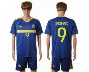 Wholesale Cheap Bosnia Herzegovina #9 Ibisevic Home Soccer Country Jersey