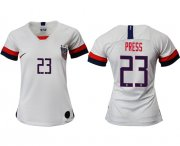 Wholesale Cheap Women's USA #23 Press Home Soccer Country Jersey