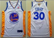 Wholesale Cheap Nike Golden State Warriors #30 Stephen Curry White City Edition 2018 NBA Finals Nike Swingman Jersey