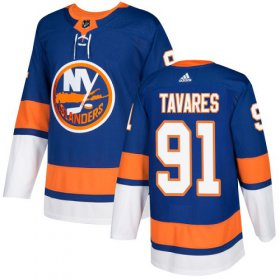 Wholesale Cheap Adidas Islanders #91 John Tavares Royal Blue Home Authentic Stitched NHL Jersey