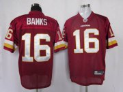 Wholesale Cheap Redskins #16 Brandon Banks Red Stitched NFL Jersey