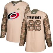 Wholesale Cheap Adidas Hurricanes #86 Teuvo Teravainen Camo Authentic 2017 Veterans Day Stitched Youth NHL Jersey