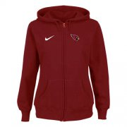 Wholesale Nike Arizona Cardinals Ladies Tailgater Full Zip Hoodie Red